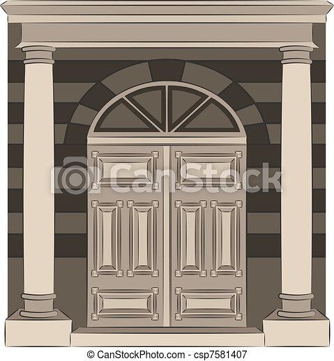 vendange, porte, interior. - csp7581407