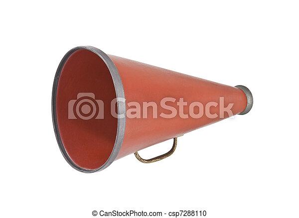 Vendange Porte Voix S Porte Voix Isolé White - Porte voix