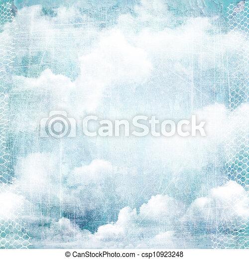 vendange, résumé, fond, texture, clouds. - csp10923248