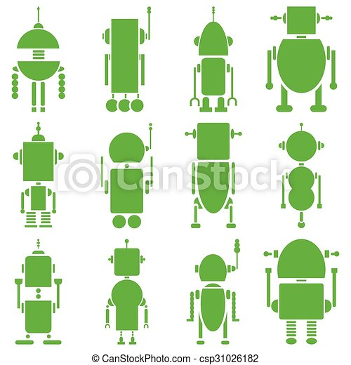 vendange, robots, 2, retro, uni, gre - csp31026182