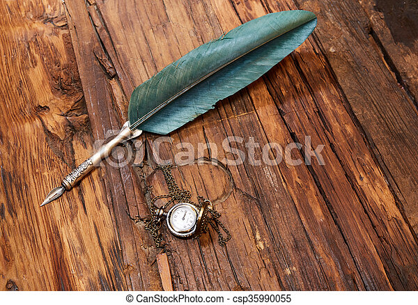 vendange, stylo, vieux - csp35990055