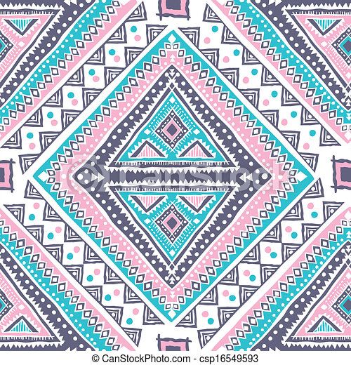 vendange, tribal, ethnique, seamless, modèle - csp16549593