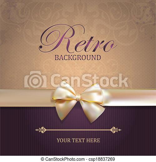vendange, vecteur, carte, arc - csp18837269