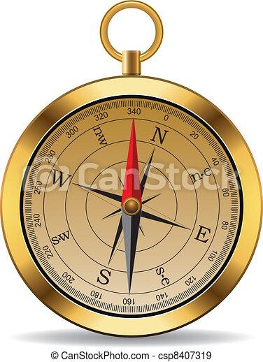 vendange, vecteur, compas - csp8407319
