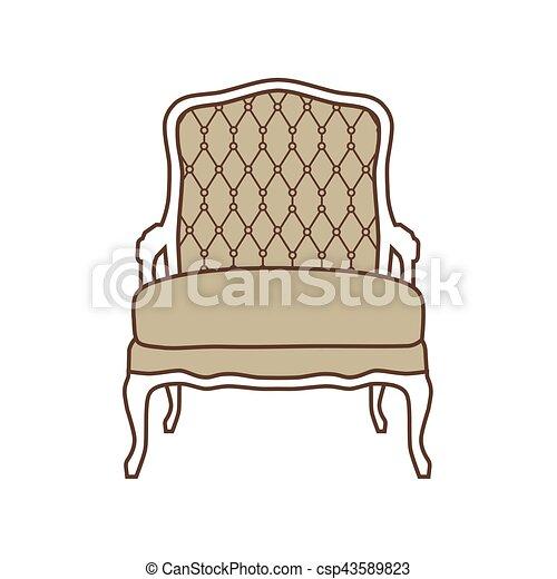 vendange, vecteur, fauteuil - csp43589823
