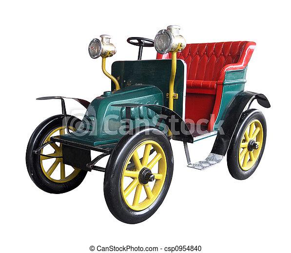vendange, voiture jouet - csp0954840