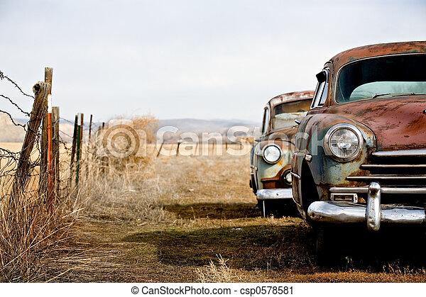 vendange, voitures - csp0578581