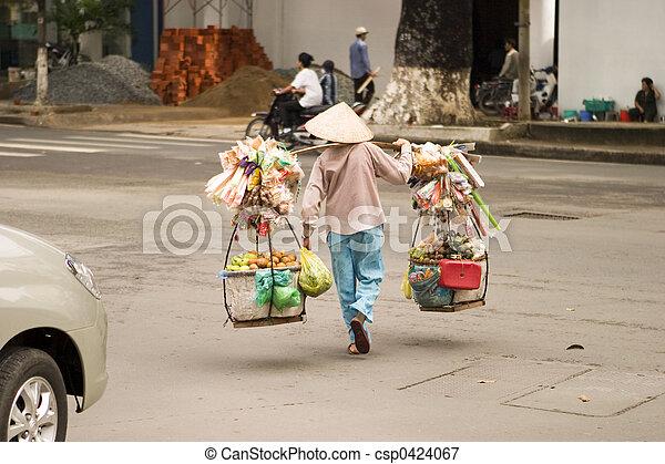 Vendedor vietnamita - csp0424067