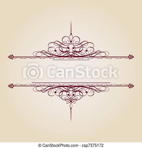 vendemmia, bandiera, ornamentale - csp7375172