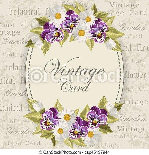 vendemmia, fiori, scheda - csp45137944