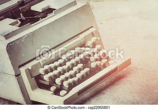 vendemmia, macchina scrivere - csp22955801