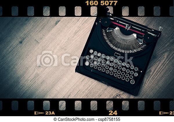 vendemmia, macchina scrivere - csp8758155