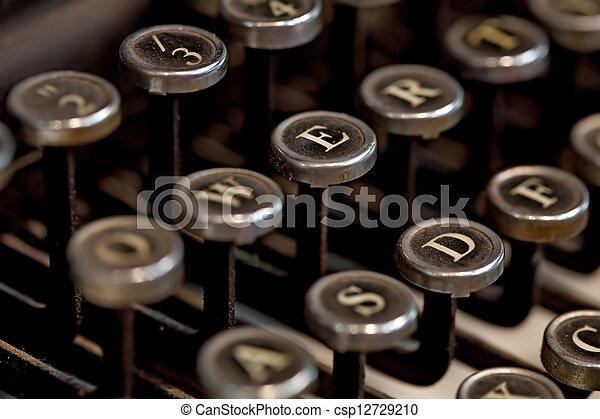 vendemmia, macchina scrivere - csp12729210