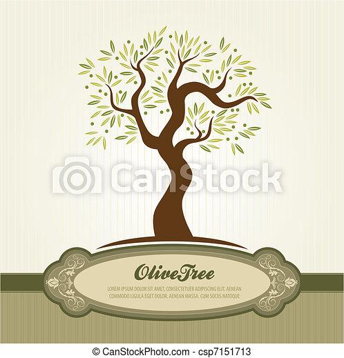 vendemmia, oliva, vettore - csp7151713