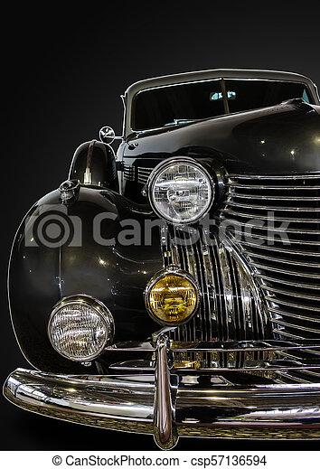 vendemmia, primo piano, automobile - csp57136594