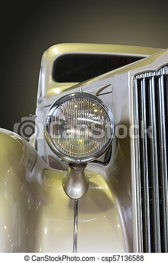 vendemmia, primo piano, automobile - csp57136588