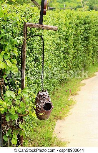vendemmia, stile, giardino, lampada - csp48900644