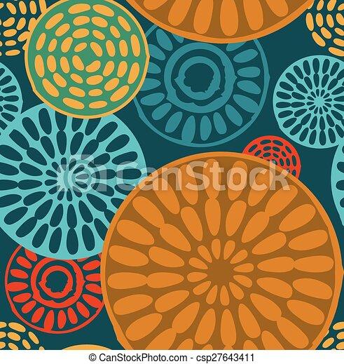 vendemmia, tribale, geometrico, seamless, modelli - csp27643411