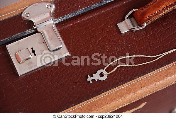 vendemmia, valigia - csp23924204