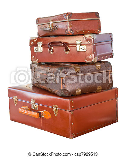 vendemmia, valigie - csp7929513
