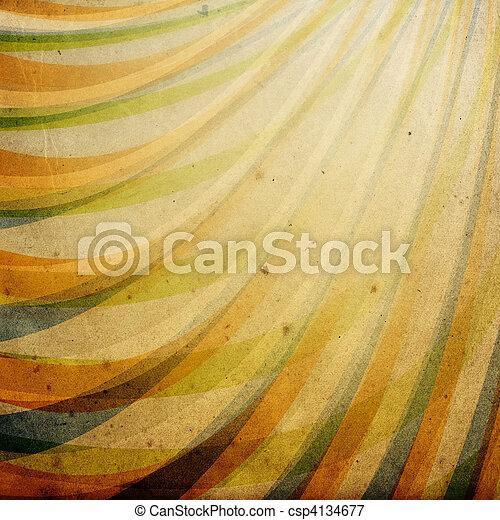 Un adorno decorado de textura de papel antiguo. - csp4134677