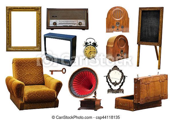 Vendimia aislado colecci n objetos relacionado hogar for Cosas del hogar online
