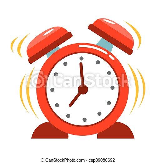 Reloj de alarma antiguo sonando - csp39080692
