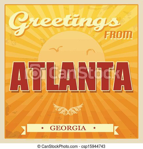 Atlanta antigua, poster de Georgia - csp15944743