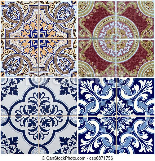 Tejas de cerámica - csp6871756
