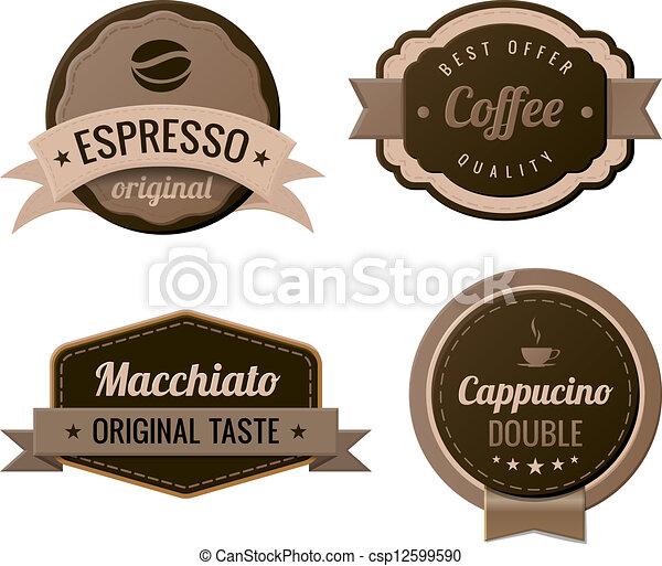 Etiquetas vintage de café - csp12599590