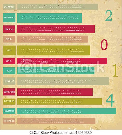 Calendario para el año 2014 - csp16060830