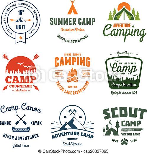 Gráficos de campamentos antiguos - csp20327865