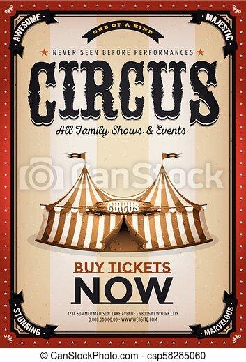 Un antiguo fondo de circo dorado - csp58285060