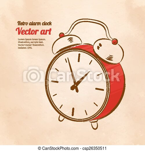 Reloj de alarma antiguo. - csp26350511