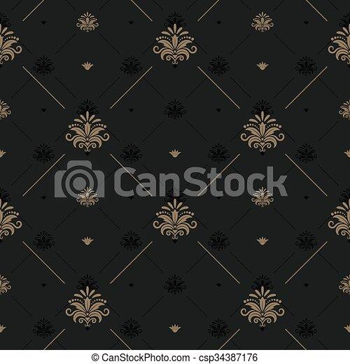 Antecedentes vintage de lujo para diseño elegante - csp34387176