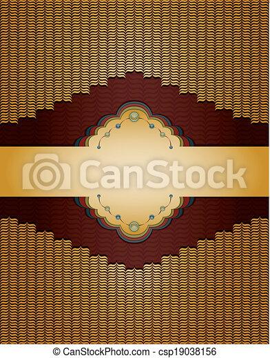 Un antiguo fondo dorado. - csp19038156