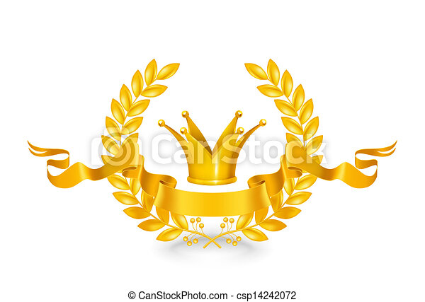 Un emblema antiguo, oro - csp14242072