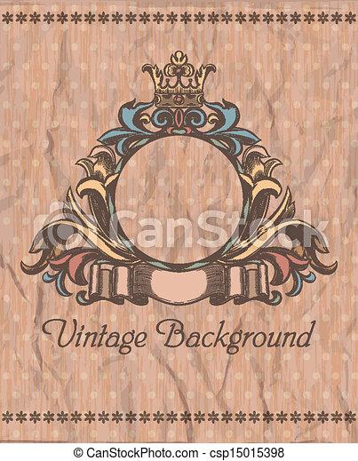 Emblema en el fondo vintage - csp15015398