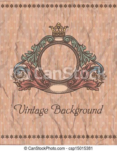 Emblem en el fondo de la cosecha - csp15015381