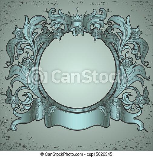 Un emblema de cosecha verde - csp15026345