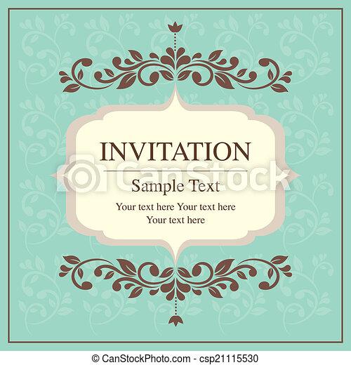 Invitación de tarjeta de estilo vintage - csp21115530