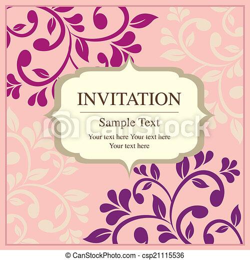 Invitación de tarjeta de estilo vintage - csp21115536
