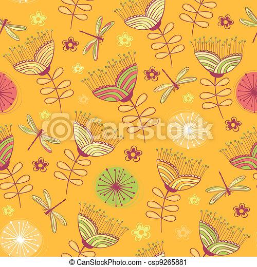 Un fondo de flores añejas - csp9265881