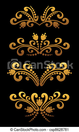 Flores de oro - csp8628781