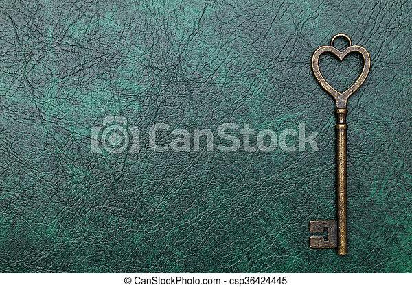 Una forma de corazón clave - csp36424445