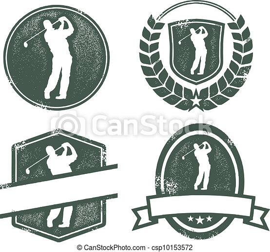 Logotipo de golf - csp10153572