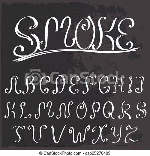 Un caligrafía vintage inglés - csp25270403