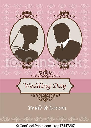 Una invitación de boda antigua - csp17447287
