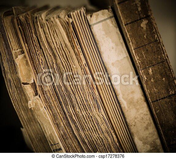 vendimia, libros, fila - csp17278376