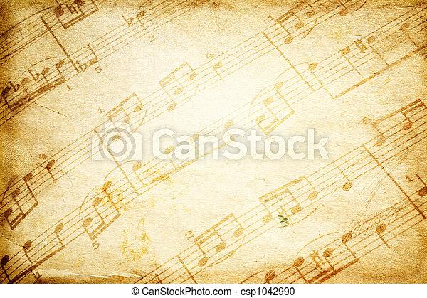 Música de vintage - csp1042990